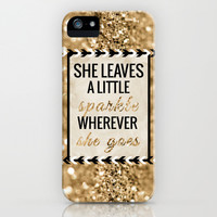 She Leaves A Little Sparkle Cell Phone Case