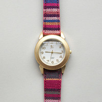 Woven Navajo Style Wrist Watch in Pink