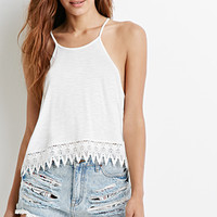 Scoop Side Crochet-Paneled Cami