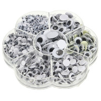 Universal 700Pcs 4/5/6/7/8/10/12mm Total Mixed Googly Eyes Self-adhesive DIY Scrapbooking for Teddy Bear Stuffed Toy Doll Parts