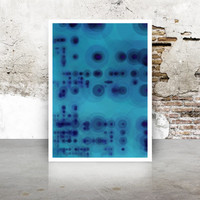 Abstract Generative Art Dividing Bubbles and Boxes growthBoxes_9z, Limited Edition Giclee 8x10, geeky wall art.