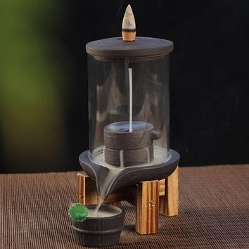 Attractive & Calming Waterfall Incense Burner With 10 Pcs Incense Cones