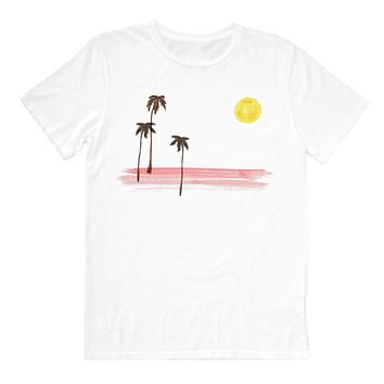 Altru Apparel Painted palms and moon tee