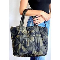 Whisper - Quilted Camo Tote Bag