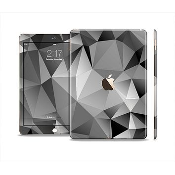 The Vector Black & White Abstract Connect Pattern Skin Set for the Apple iPad Air 2