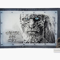 White Walkers Game Of Thrones Gift For Boyfriend Winter Is Comming Dark Art The Wall Night Watch A Song Of Ice And Fire Valar Morghulis 10x6