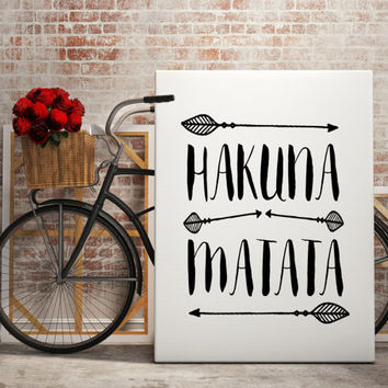 Hakuna Matata Dictionary Art Print Quote Typography Wall Art Print Wall Decor illustration Dictionary Page Print Poster Wall Decal