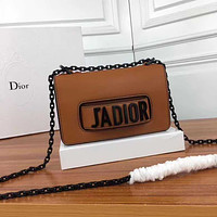 DIOR WOMEN'S LEATHER JADIOR INCLINED CHAIN SHOULDER BAG