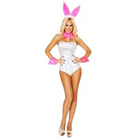Sexy Playmate of the Year Romper Costume with Accessories