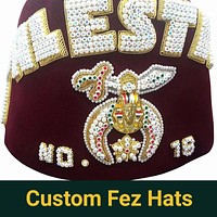 Shriner Fez Hat Bullion Hand Embroidered + Free Case
