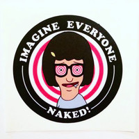 Imagine Everyone Naked Sticker