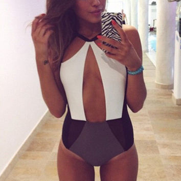 Hollow Strappy Bandage Victoria's Secret Like Women One Piece Swimsuit Bathing Suit Bandage Bikini Set _ 170