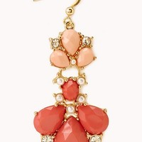 Regal Two-Tone Drop Earrings