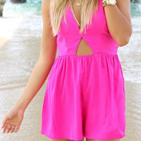 Pink Crossback Cut-Out Romper