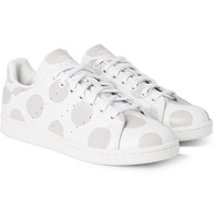 adidas Originals - Stan Smith Polka-Dot Leather Sneakers | MR PORTER