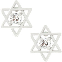Star Of David Stud Earrings