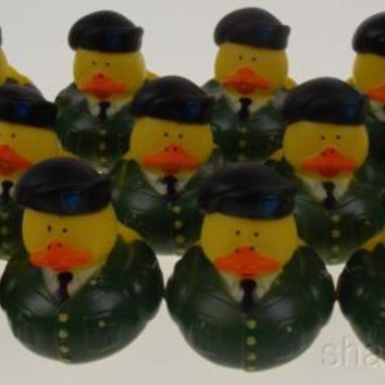 LATER US Military Rubber Army Duck Lot 12 Duckie Party Favors Cake Toppers Decor