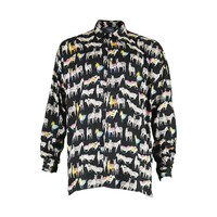 Versace Jeans Couture Rainbow Zebra Men's Cotton Shirt. Made in Italy, 1990s