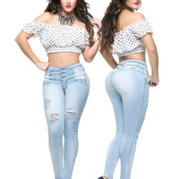 Light Blue Uplift Skinny Jeans