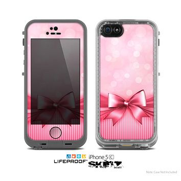 The Magical Pink Bow Skin for the Apple iPhone 5c LifeProof Case