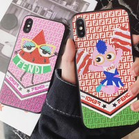 Perfect Fendi  Phone Cover Case For iphone 6 6s 6plus 6s-plus 7 7plus 8 8plus iPhone X XS XSmax XR