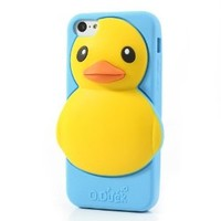 Adorable Rubber Duck Silicone Case Accessory for iPhone 5C - Blue