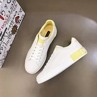 D&G  Men Fashion Boots fashionable Casual leather Breathable Sneakers Running Shoes0525em