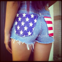 Levis High waisted American flag by Jeansonly