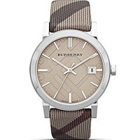Burberry Check Strap Watch, 38mm | Bloomingdale's