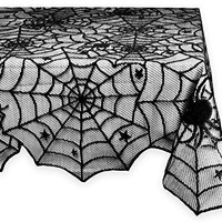Halloween Lace Tablecloth for Halloween Parties, Décor, & Spooky Meals - 54 x 72