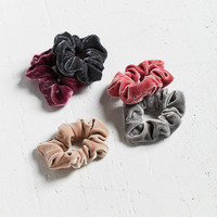 Velvet Hair Scrunchie Hair Band 5-Pack | Urban Outfitters