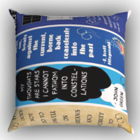 Doctor Who, The Great Gatsby, The Fault in Our Stars, Harry Potter X0709 Zippered Pillows  Covers 16x16, 18x18, 20x20 Inches