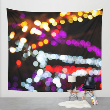 Nightlife Wall Tapestry by Jenndalyn
