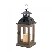 Small Monticello Lantern with LED Candle