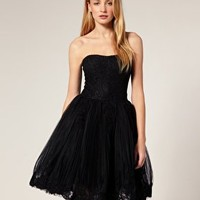Ted Baker | Ted Baker Dress With Lace Embroidered Basque and Full Skirt at ASOS