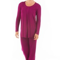 Women's Long Sleeve Pajama Set (Serenity) Eco-Friendly Gifts by Texere