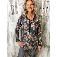 Jagger Floral Snap Button Top