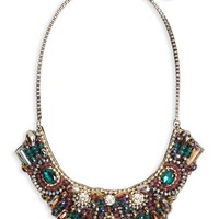Topshop Crystal & Bead Statement Bib Necklace | Nordstrom