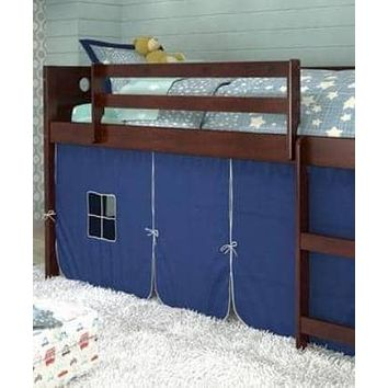 Tristan Loft Bed with Blue Tent