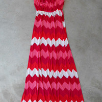 Pink Amour Chevron Maxi [4939] - $43.00 : Vintage Inspired Clothing & Affordable Dresses, deloom   Modern. Vintage. Crafted.