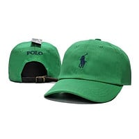 Perfect Polo Ralph Lauren Women Men Embroidery Solid Color Baseball Cap Hat