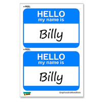 Billy Hello My Name Is - Sheet of 2 Stickers
