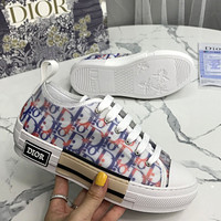 Dior CD fashion men's and women's shoes new letters full print low-top sneakers