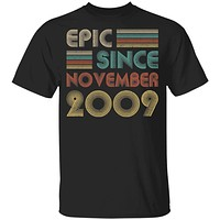 Epic Since November 2009 Vintage 11th Birthday Gifts Youth