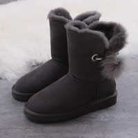 Women's UGG snow boots Mid-tube women's boots DHL _1686248855-393
