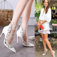 Pointed sexy extreme high heels designer shoes women luxury  super high heels wedding shoes zapatos de mujer valentine shoes