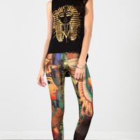 Black Egyptian Gold Print Tank