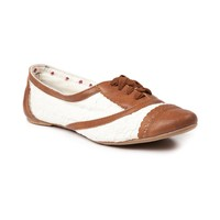 Womens Not Rated Borderline Flats in Tan | Shi by Journeys