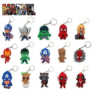 Deadpool Dead pool Taco OH Hot Marvel Avengers Infinity War Guardians of the Galaxy Iran Man  PVC Keychain Keyring Accessory Pendants Gift AT_70_6