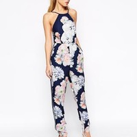 Finders Keepers | Finders Keepers Check The Rhyme Jumpsuit in Digital Floral Print at ASOS